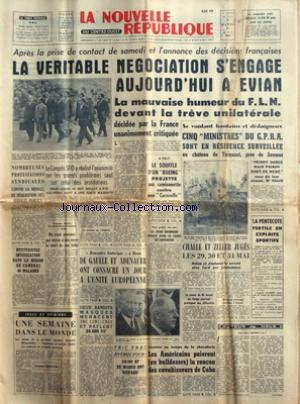 NOUVELLE REPUBLIQUE (LA) no:5074 23/05/1961