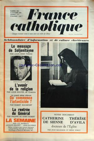 FRANCE CATHOLIQUE                                        no:1244 16/10/1970