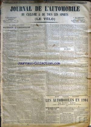 JOURNAL DE L'AUTOMOBILE (LE) no:343 27/10/1905