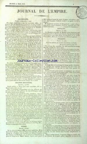 JOURNAL DE L'EMPIRE no: 23/05/1815