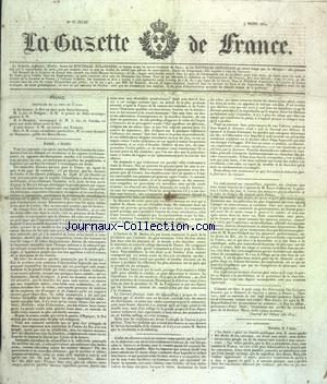 GAZETTE DE FRANCE (LA) no:65 04/03/1830