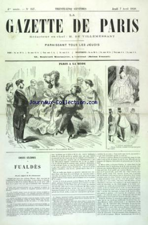 GAZETTE DE PARIS (LA) no:157 07/04/1859