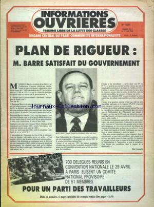 INFORMATIONS OUVRIERES no:1157 04/05/1984
