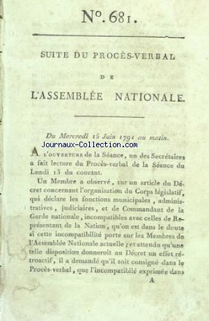 ASSEMBLEE NATIONALE (L') no:681 15/06/1791