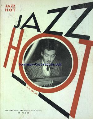 REVUE DU HOT JAZZ CLUB DE FRANCE no:29 01/01/1949