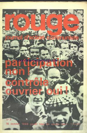 ROUGE no:3 16/10/1968