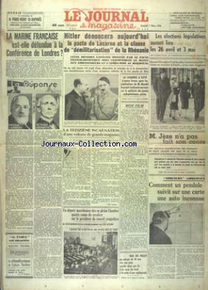 JOURNAL ET SON MAGAZINE (LE) no:15847 07/03/1936