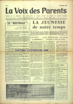 VOIX DES PARENTS (LA) no:98 01/12/1959