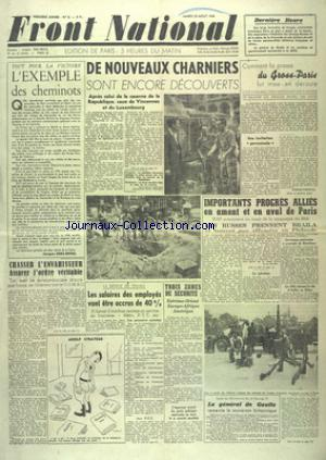 FRONT NATIONAL no:8 29/08/1944