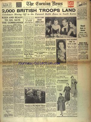EVENING NEWS (THE) no:21385 29/08/1950