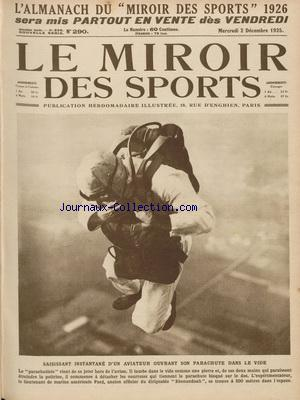 MIROIR DES SPORTS (LE) no:290 02/12/1925