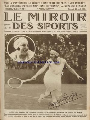 MIROIR DES SPORTS (LE) no:311 28/04/1926
