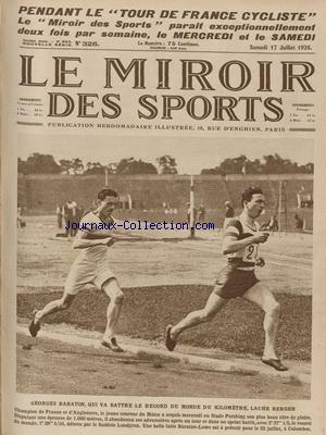 MIROIR DES SPORTS (LE) no:326 17/07/1926