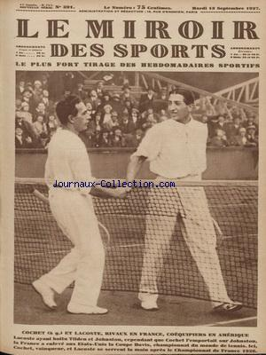 MIROIR DES SPORTS (LE) no:391 13/09/1927