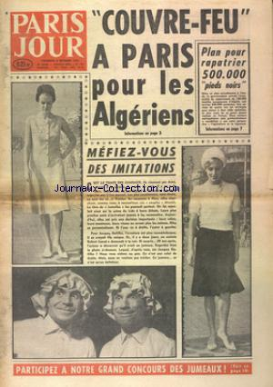 PARIS JOUR no:638 06/10/1961