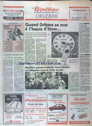 REPUBLIQUE DU CENTRE  ORLEANS (LA) no:12701 25/09/1988