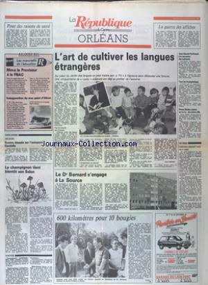 REPUBLIQUE DU CENTRE  ORLEANS (LA) no:12698 21/09/1988
