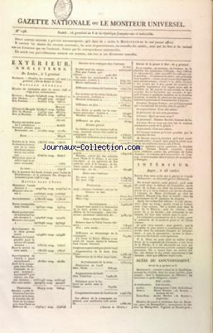 GAZETTE NATIONALE OU LE MONITEUR UNIVERSEL no:196 06/04/1800