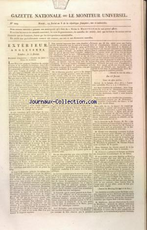 GAZETTE NATIONALE OU LE MONITEUR UNIVERSEL no:229 09/05/1800