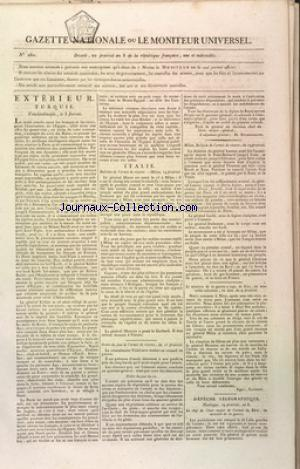 GAZETTE NATIONALE OU LE MONITEUR UNIVERSEL no:260 09/06/1800