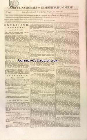 GAZETTE NATIONALE OU LE MONITEUR UNIVERSEL no:293 12/07/1800