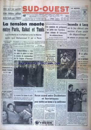SUD OUEST no:4637 31/07/1959