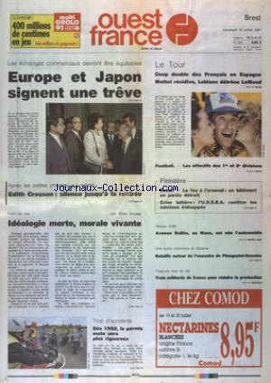 OUEST FRANCE BREST no:14201 19/07/1991