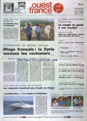OUEST FRANCE BREST no:14220 10/08/1991