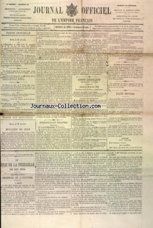 JOURNAL DE L'EMPIRE FRANCAIS no:51 20/02/1869
