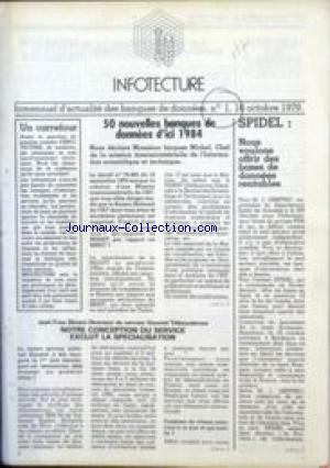 INFOTECTURE no:1 16/10/1979