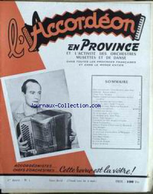 ACCORDEON EN PROVINCE (L') no:1