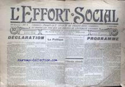 EFFORT SOCIAL (L') no:1 01/07/1910