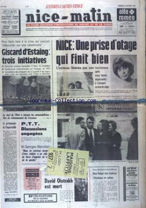 NICE MATIN CANNES ANTIBE CAGNES VENCE no:9820 25/10/1974