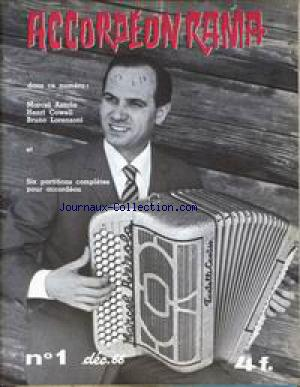 ACCORDEON RAMA no:1 01/12/1966