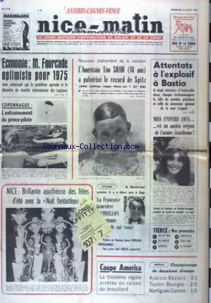 NICE MATIN CANNES ANTIBE CAGNES VENCE DIMANCHE no:9759 25/09/1974