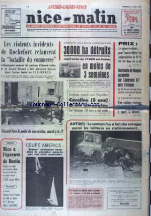 NICE MATIN CANNES ANTIBE CAGNES VENCE no:9757 23/08/1974
