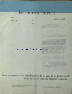 NOTES BLEUES (LES) no:1 19/04/1968
