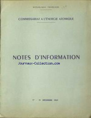 COMMISSARIAT A L'ENERGIE ATOMIQUE no:1 15/12/1963