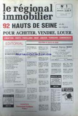 REGIONAL IMMOBILIER  (LE) no:1