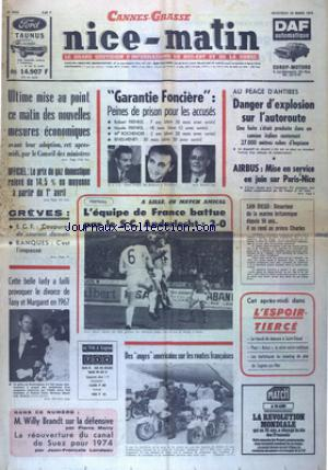 NICE MATIN CANNES GRASSE no:9602 20/03/1974