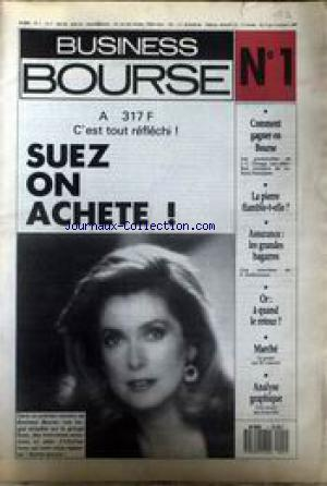 BUSINESS BOURSE no:1 09/10/1987