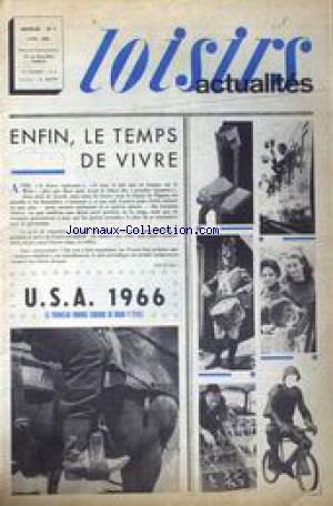LOISIRS ACTUALITES no:1 01/04/1966