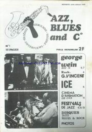 JAZZ BLUES AND CIE no:1 01/06/1976