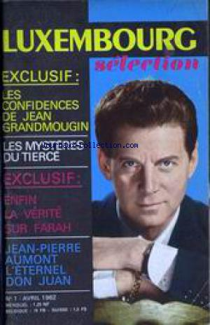LUXEMBOURG SELECTION no:1 01/04/1962
