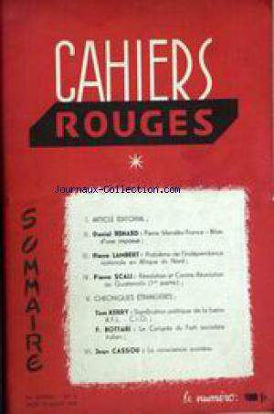 CAHIERS ROUGES no:1 01/06/1955