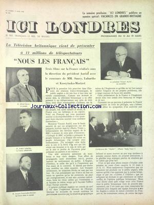 ICI LONDRES no:370 13/03/1955