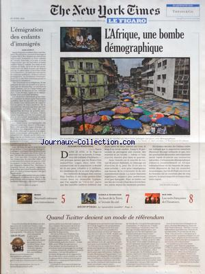 NEW YORK TIMES FIGARO (THE) no: 20/04/2012