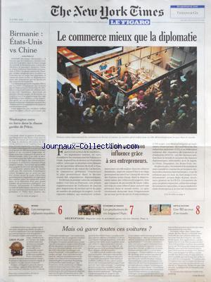 NEW YORK TIMES FIGARO (THE) no: 06/04/2012
