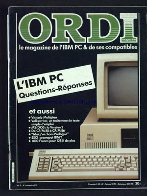 ORDI MAGAZINE no:1 01/10/1983
