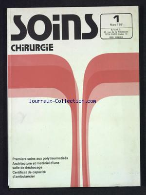 SOINS CHIRURGIE no:1 01/03/1981